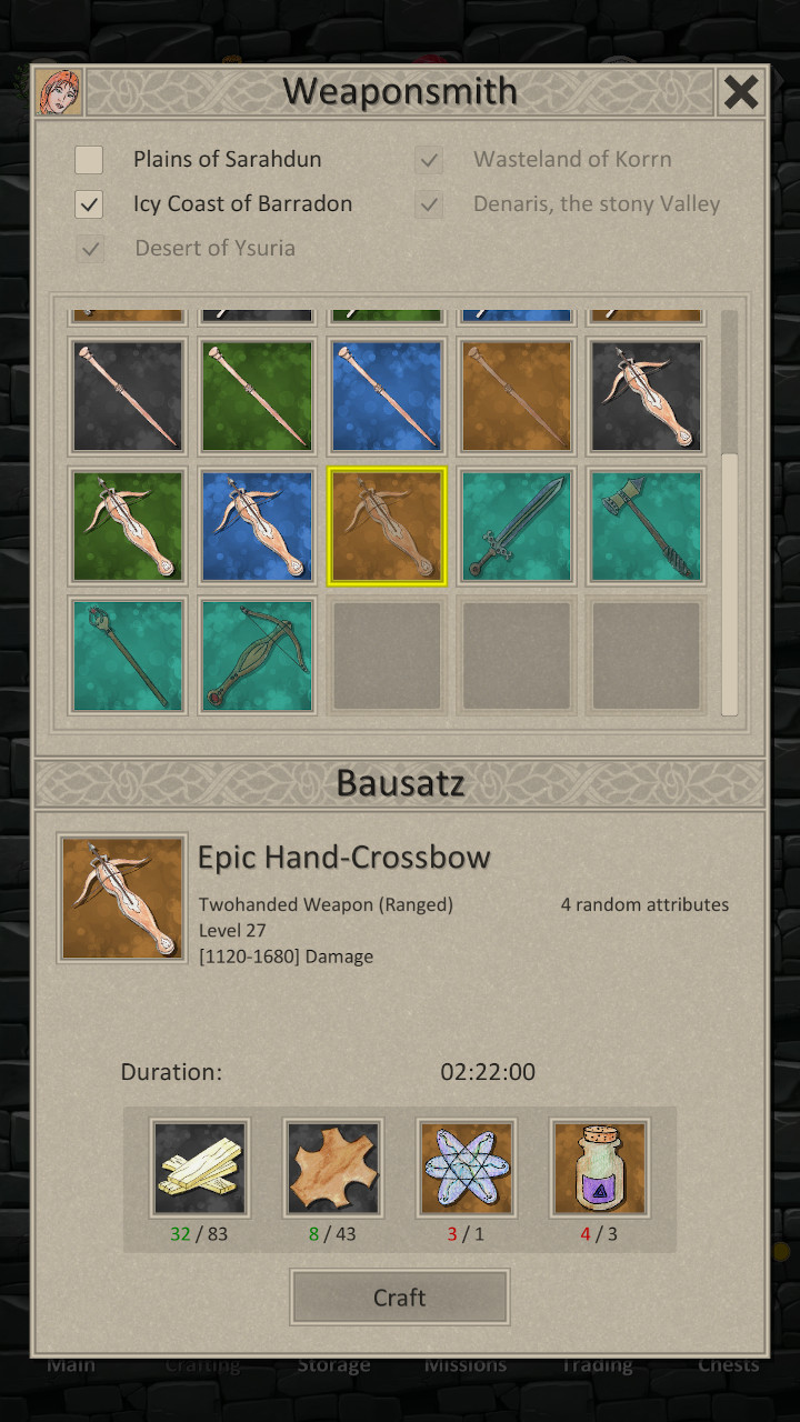 540+ items to craft